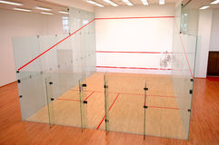 Squash court Royalty Free Stock Images