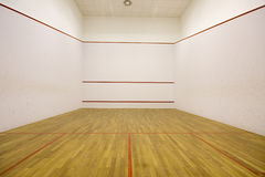 Squash court. An empty international squash court Royalty Free Stock Images