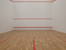 Squash court. Official white squash court in squash club Royalty Free Stock Images