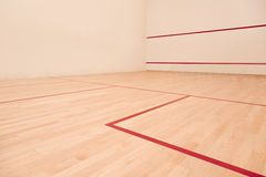 Squash court. A profesional squash court, nobody Royalty Free Stock Photography