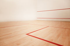 Squash court. A profesional squash court, nobody Stock Image