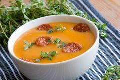 squash för soup för butternutpeppar röd Royaltyfri Fotografi