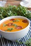 squash för soup för butternutpeppar röd Arkivfoto