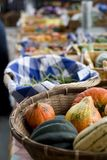 Squash at the Farmer's Market. Ripe produce at a Farmer's Market Royalty Free Stock Images