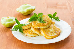 Squash fritters Stock Photos