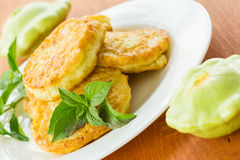 Squash fritters Stock Photo
