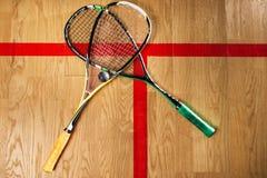 Squash game equipment closeup view Stock Image