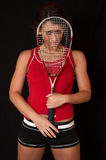 Squash girl royalty free stock images