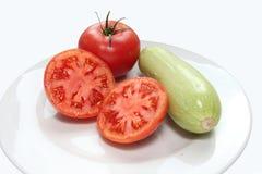 Squash och tomater Royaltyfri Bild