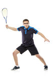 A squash player Royalty Free Stock Image