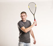 Squash player Royalty Free Stock Images