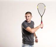 Squash player Royalty Free Stock Photos