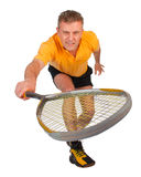 Squash player in action Stock Image