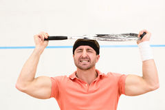 Squash player man Stock Photography