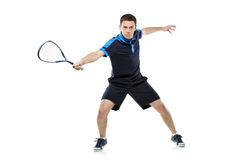 A squash player playing Stock Photos
