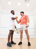 Squash players handshake Royalty Free Stock Photography