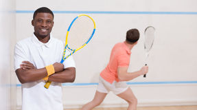 Squash players Stock Image