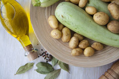 Squash and potato Royalty Free Stock Images