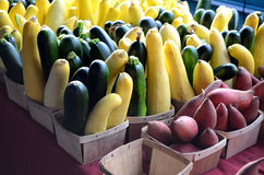 Squash and Potatoes Stock Images