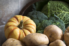 Squash and Potatoes Stock Image