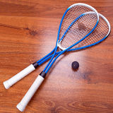 Squash rackets and ball Stock Photo