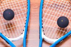 Squash rackets and balls Stock Image