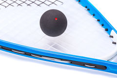 Squash rackets over white Royalty Free Stock Image