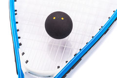 Squash rackets over white royalty free stock photography