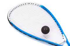 Squash rackets over white Royalty Free Stock Photos