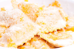 Squash ravioli Royalty Free Stock Photography