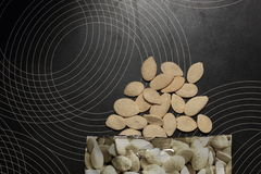 Squash seeds in bulk Stock Image
