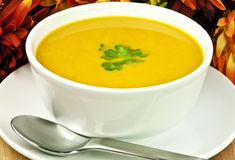 Squash soup for fall Royalty Free Stock Image