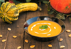 Squash soup Stock Images