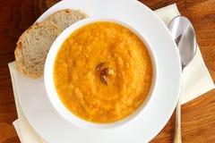 Squash soup Stock Images