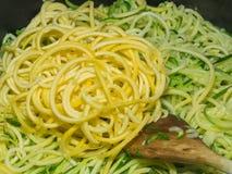Squash spaghetti noodles Royalty Free Stock Image