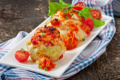 Squash stuffed with vegetables and meat Royalty Free Stock Photography