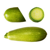 Squash (vegetable marrow)  isolated on white background with clipping path. Closeup with no shadows.  Vegetable.  Food. Eating veg Royalty Free Stock Photo