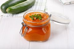 Squash zucchini caviar, vegetable paste royalty free stock photography