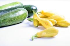 Squash & Zucchini On White Stock Photography