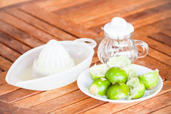After squashed fresh lime Royalty Free Stock Photo