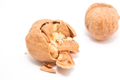 Squashed nut Royalty Free Stock Photos