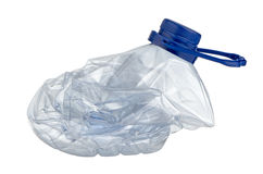 Squashed plastic bottle Stock Images