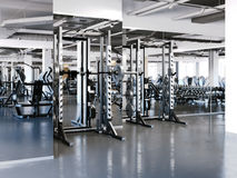 Squat Cages in gym. 3d rendering Royalty Free Stock Images