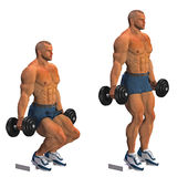 Squat with dumbbell  Royalty Free Stock Photo