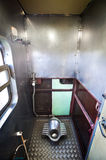 Squat toilet onboard a Thai train Royalty Free Stock Photo