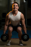 Squats With Dumbbells Stock Photos