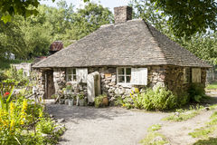 Squatters Cottage. Ironbridge, Telford England- July 9, 2014. Squatters Cottage, one of the many popular tourist attractions at the recreated Victorian Town Stock Image