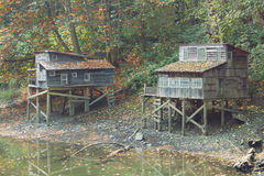 Squatters` shacks at Maplewood Flats in North Vancouver Stock Image