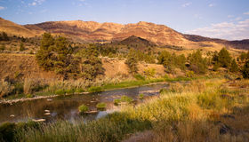 Squaw Creek Butler Basin John Day Fossil Beds Oregon. Amazing beauty of Oregon State countryside near John Day Fossil Beds Royalty Free Stock Photos