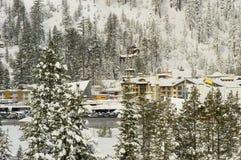 雪Squaw Valley 免版税库存图片
